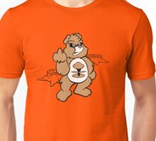 Don't Care Bear (brown) Unisex T-Shirt