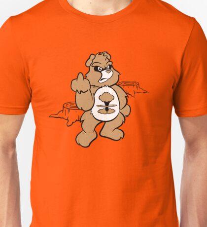 Don't Care Bear (brown) Unisex T-Shirt