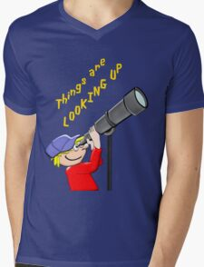 Things Are LOOKING UP T - shirt, etc.design Mens V-Neck T-Shirt