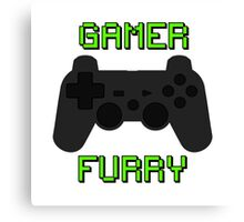 Play Station Gamer Fur  Canvas Print