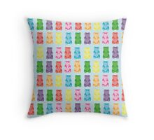 Gummy bear print pillow Throw Pillow