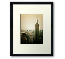 Empire State Building New York Cityscape Framed Print