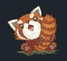 Red panda which holds a tail by Toru Sanogawa