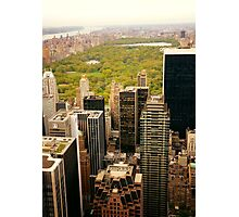 Central Park New York City From Above Photographic Print