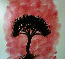Tree of Africa study #1 Series, watercolor by Anna  Lewis