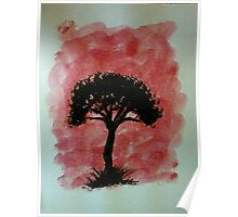 Tree of Africa study #1 Series, watercolor Poster