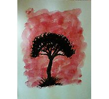 Tree of Africa study #1 Series, watercolor Photographic Print