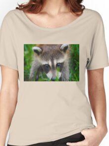 cute raccoon Women's Relaxed Fit T-Shirt