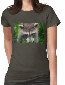 cute raccoon Womens Fitted T-Shirt