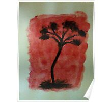 Tree Study of Africa Series, #3, watercolor Poster
