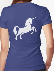 Unicorn, Heraldry, Horse, Legend, Myth, Mythology, Tale, Story, fable, fiction, folklore, lore,  Womens Fitted T-Shirt