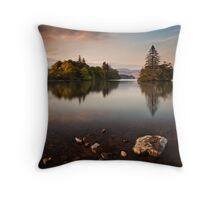 Lough Eske Calm Throw Pillow