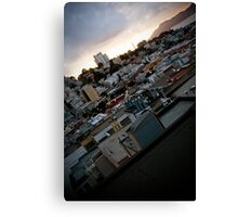 Slanted City - San Francisco Canvas Print