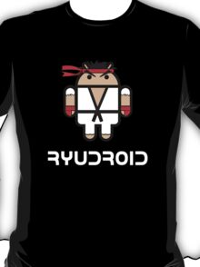 Ryu from Street Fighter goes Google Android Style T-Shirt
