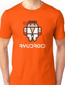 Ryu from Street Fighter goes Google Android Style Unisex T-Shirt