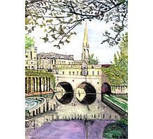 Pultney Bridge Bath England Photographic Print