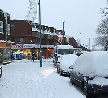 Snowy Biggin Hill Winter 2010 by Keith Larby
