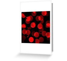 Red Dots 2 Greeting Card