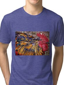 Real Cool Rooster Tri-blend T-Shirt