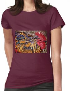 Real Cool Rooster Womens Fitted T-Shirt
