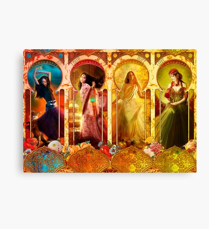 Joy Faith Hope & Love Canvas Print