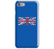 BRITISH, Union Jack, Patriot, Britain, England, Scotland, Ireland, Wales. UK, Navy, Blue iPhone Case/Skin