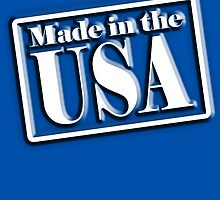 Made in the USA, Manufactured in America, American, Navy, Blue by TOM HILL - Designer