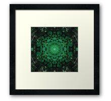 Green Mandala Framed Print