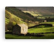 Yorkshire Dales Stone Barn Canvas Print