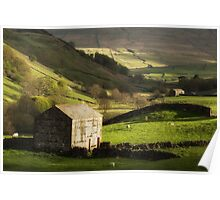 Yorkshire Dales Stone Barn Poster