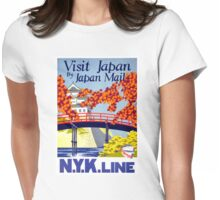 Japan Vintage Travel Poster Restored Womens Fitted T-Shirt