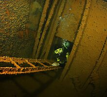 Inside the Hilma Hooker, Bonaire by Rich Synowiec