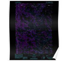 USGS Topo Map Oregon Johnny Cake Mtn 280334 1990 24000 Inverted Poster