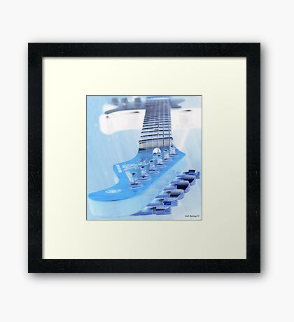 Ice Guitar Framed Print
