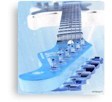 Ice Guitar Canvas Print