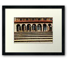 University Steps Framed Print