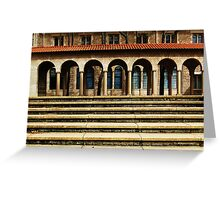 University Steps Greeting Card