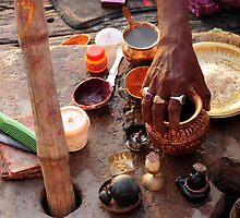 Dawn Ritual - Holy River Ganges by steve nicholson