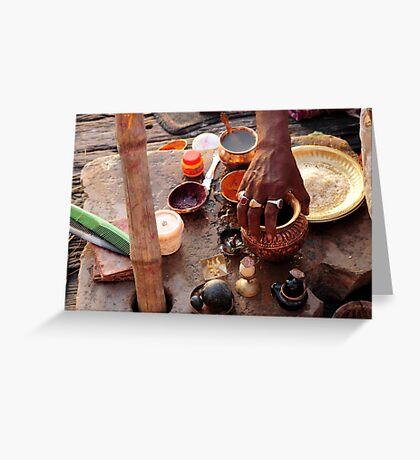 Dawn Ritual - Holy River Ganges Greeting Card