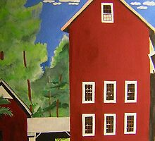 Tall Barn at Prallsville, NJ by Marriet