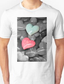 colored heart stones T-Shirt