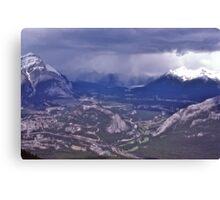 Snowstorm, Banff, Alberta, Canada. Canvas Print