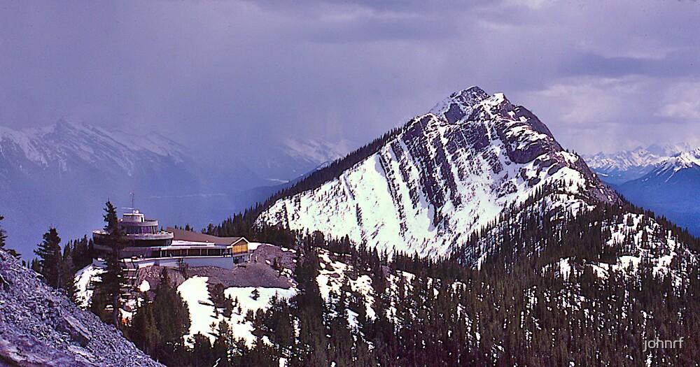 Snowstorm, Sulphur Mountain, Banff, Alberta, Canada. by johnrf