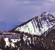 Snowstorm, Sulphur Mountain, Banff, Alberta, Canada. by johnrf