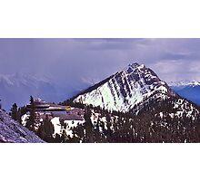Snowstorm, Sulphur Mountain, Banff, Alberta, Canada. Photographic Print