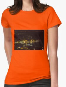 landscape lake at night Womens Fitted T-Shirt