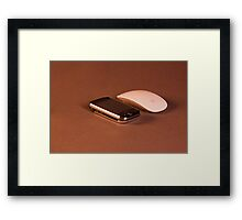 Supercomputer and mouse Framed Print