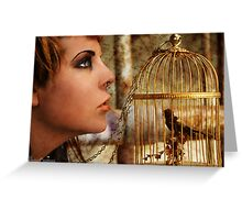 Locked Inside A Golden Cage Greeting Card