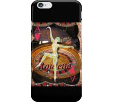 Lady Luck , casino , roulette, playing cards, gaming image iPhone Case/Skin