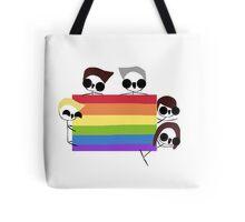 gay pride/rainbow direction - harrie and lewie Tote Bag
